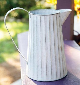 Metal Fluted Pitcher