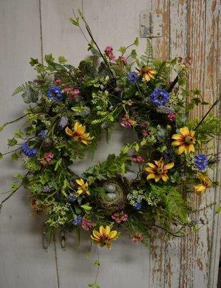 Wildflower Nest Custom Wreath