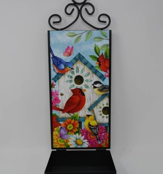 Welcome Friends Wall Birdfeeder