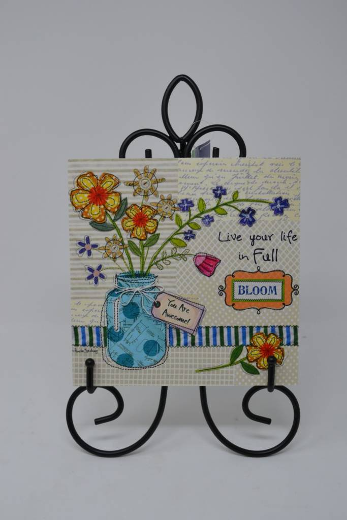 Decorative Tile with Easel