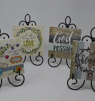 Decorative Tile w/ Easel (6 Styles)
