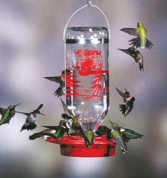 32-Oz. Glass Hummingbird Feeder