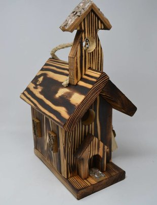 Wooden Church Birdhouse