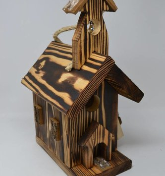 Wooden Church Birdhouse