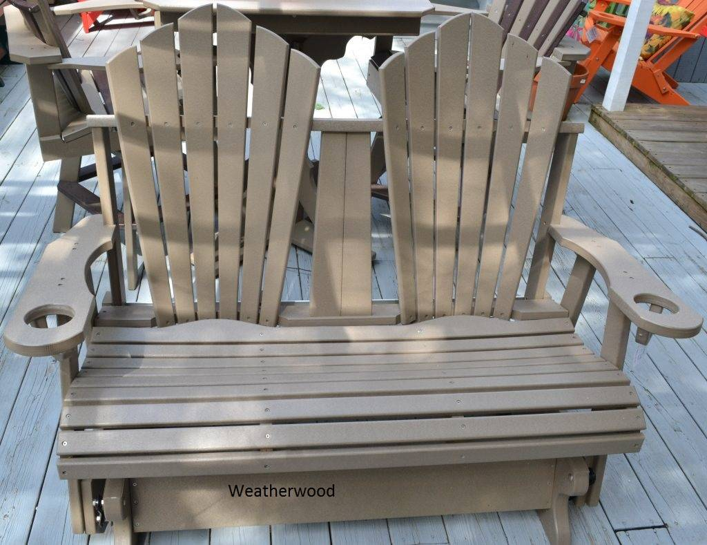 4-ft Fan-Back Glider Outdoor Chair