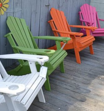 Folding Fan-Back Adirondack Outdoor Chair