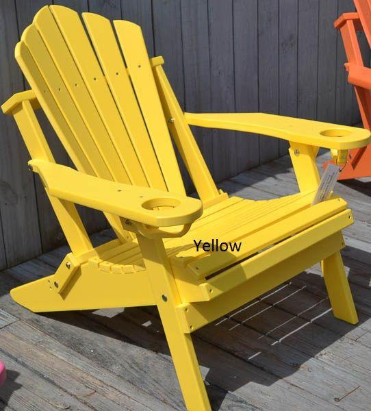 Folding Fan-Back Adirondack Outdoor Chair