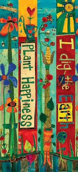 3' Plant Happiness Peace Pole