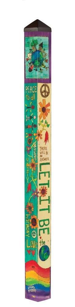6' Let it Be Peace Pole