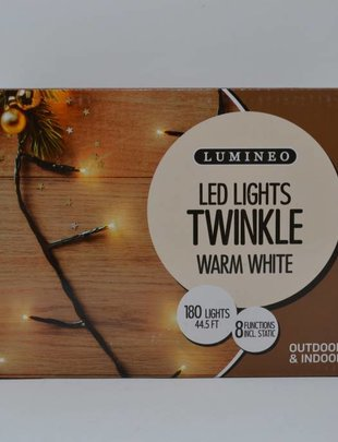 180 Warm White Twinkle LED Lights
