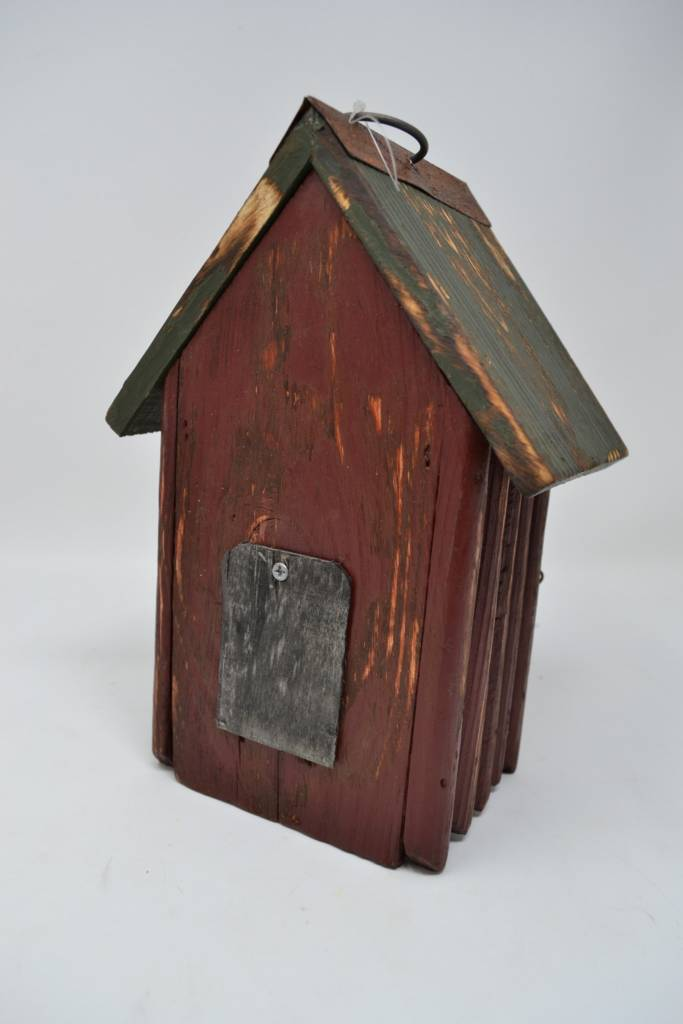 Burgundy Picket Birdhouse