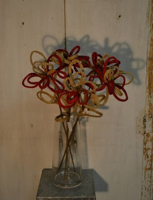 Braided Jute Poinsettia Stem