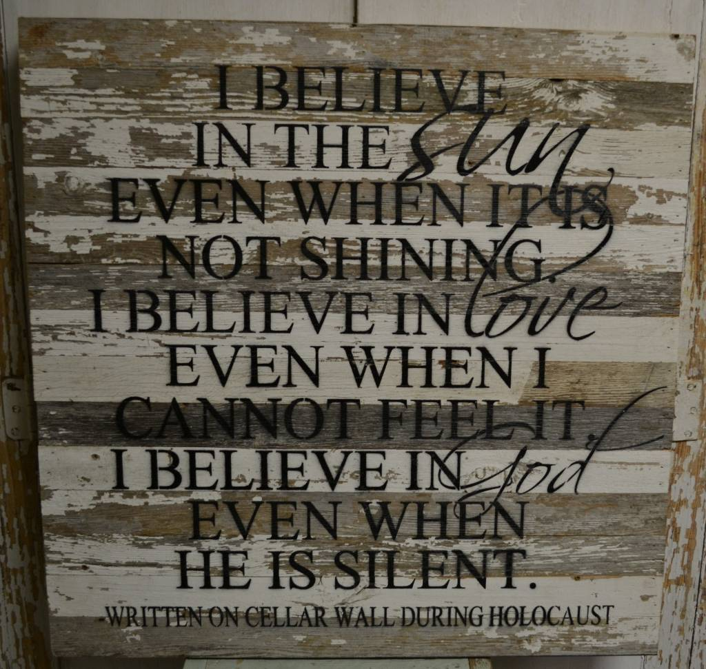 I Believe Holocaust Reclaimed Pallet Sign