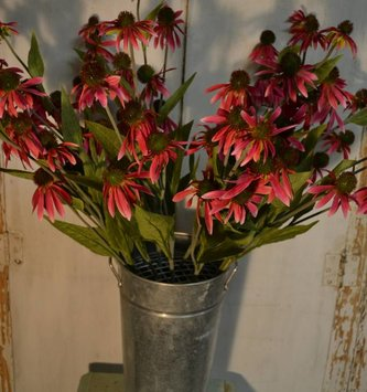 Dark Pink Coneflower Spray