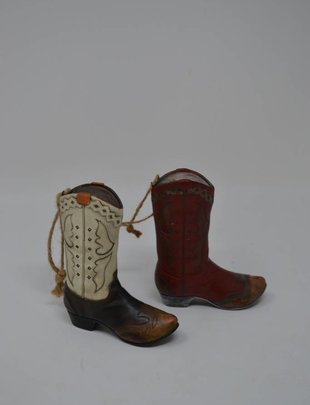 Cowboy Boot Ornament (2 styles)