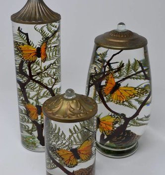 Monarch Butterfly Lifetime Oil Candle (3 Styles)