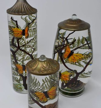 Monarch Butterfly Lifetime Oil Candle