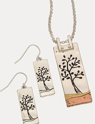 Giving Tree Necklace & Earring Set (2 Styles)