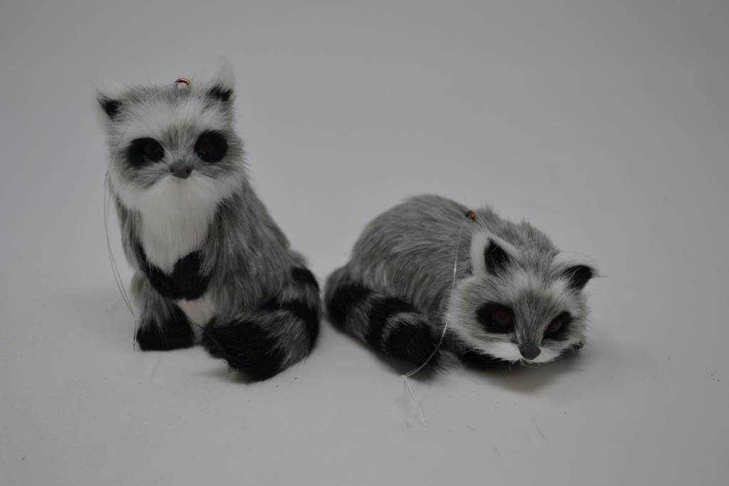 Furry Raccoon Ornament (2 Styles)