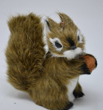 Furry Squirrel Ornament
