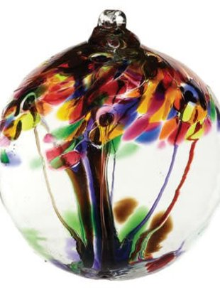 "10"" Hanging Glass Tree of Life Orb"
