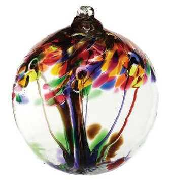 "10"" Hanging Glass Tree of Life Orb (4-Styles)"