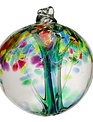 """10"""" Hanging Glass Tree of Life Orb (4-Styles)"""