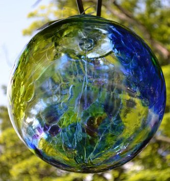 "12"" Hanging Glass Spirit Ball (3 Colors)"