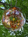 "12"" Hanging Glass Spirit Ball"