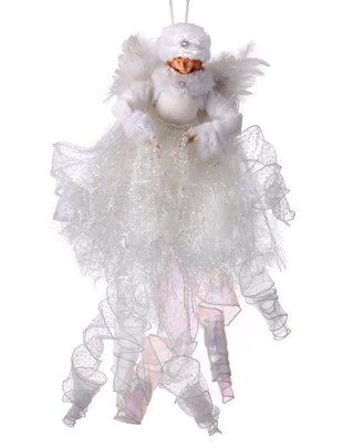 Hanging Frozen Frilly Angel