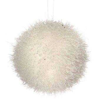 Frozen Tinsel Ball Ornament