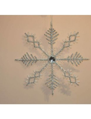 "12"" Glitter Jewel Snowflake Ornament"