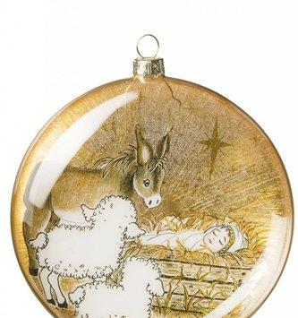 Manger Scene Disk Ornament