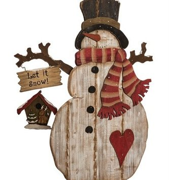 XL Wooden Frosty the Snowman