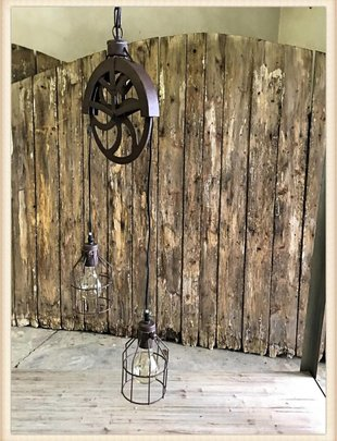 Pulley Double Pendant Lamp