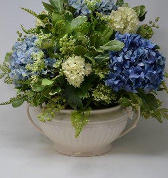 Custom Blue Hydrangea Arrangement