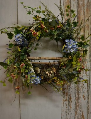Bird Wreath with Nest
