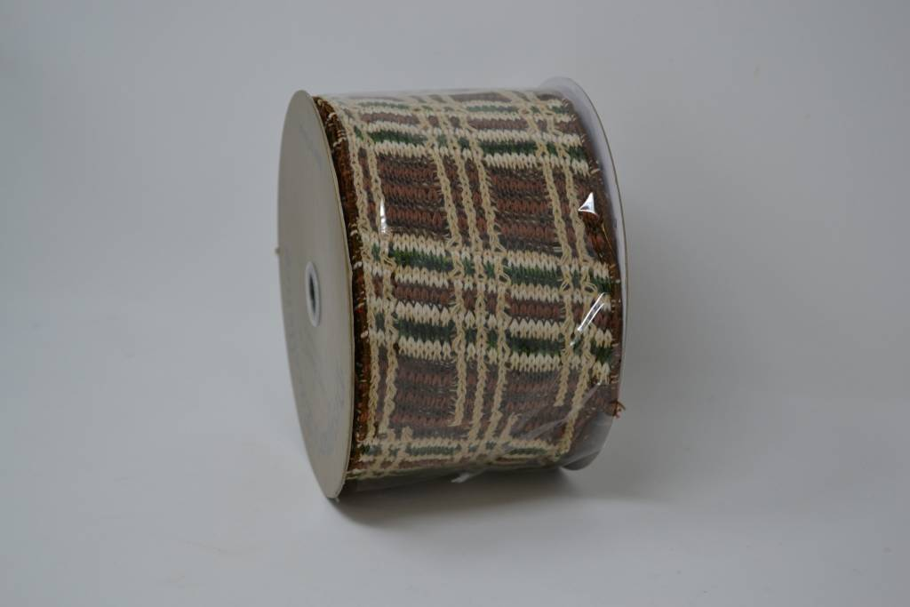 Woodland Plaid Ribbon 10 Yds (2 Colors)