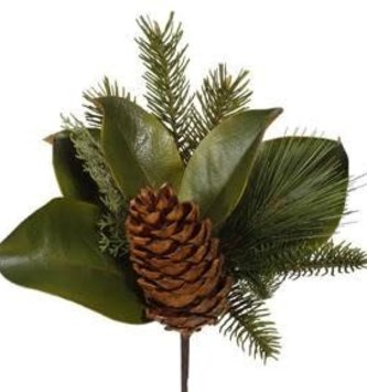 Magnolia Pinecone Pick
