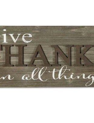 Give Thanks Barnwood Sign