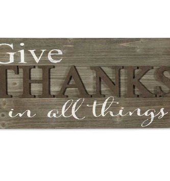 Give Thanks Barnwood Sign