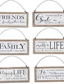 Hanging Framed Message Sign (6-Styles)