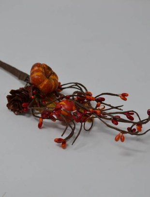 Mini Pumpkin Pinecone Pick