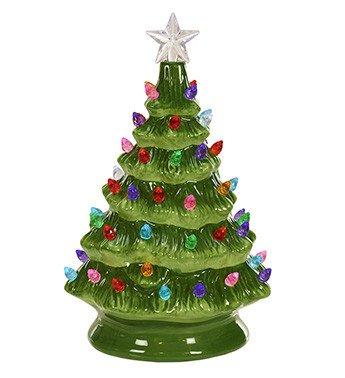 LED Ceramic Green Christmas Tree