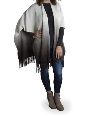 Grey Cream Ombre Shawl