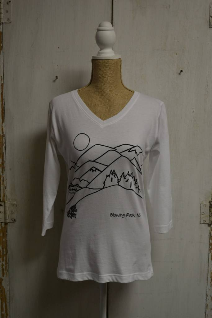 Blowing Rock 3/4 Sleeve V-Neck Top