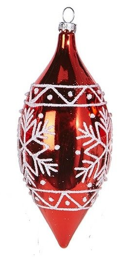 Red Metallic Snowflake Ornament (3 Styles)