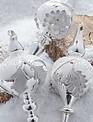 Silver Pinecone Finial Ornament