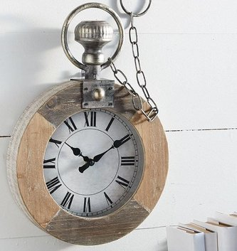 Wooden Pocket Watch Wall Decor