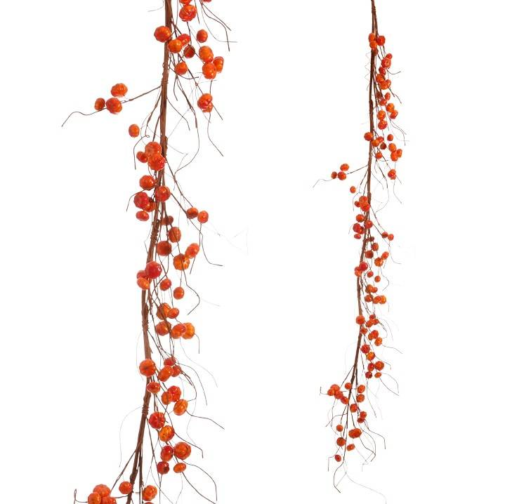 5-ft Pumpkin Twig Garland
